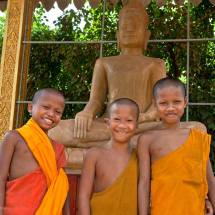 Young monks at Wat Thmey (Siem Reap)