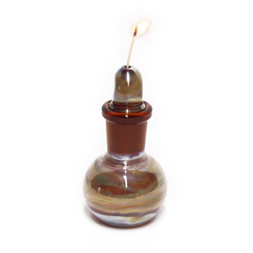 Glass on Glass Humboldt Hemp Wick Dispenser Amber Silver