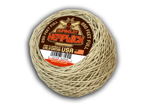 Humboldt Hemp Wick 250 Feet Full Flame