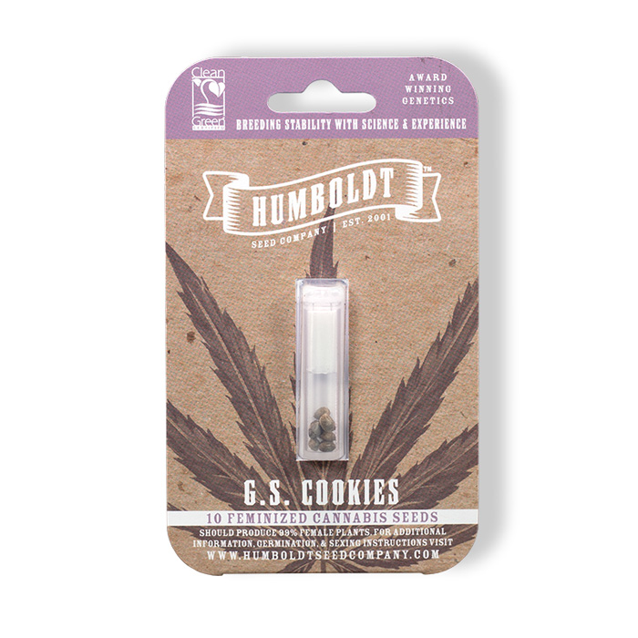 Humboldt Seed Company Feminized G.S. Cookies Seed Pack