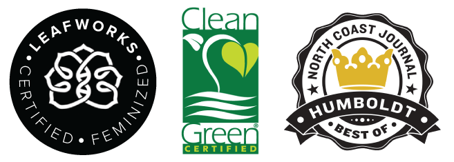 Leafworks, Best of Humboldt, and Clean Green Certified Logos