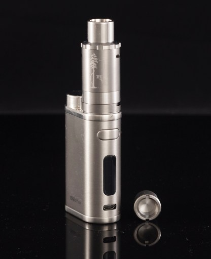 top airflow Sai Atomizer on Silver Pico 75