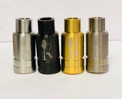 Stainless Steel, Black, Gold, and Titanium Sai Atomizer