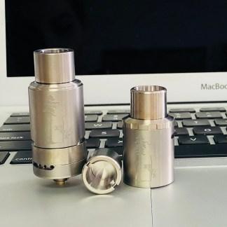 Titanium Sai Atomizer, Titanium Top Airflow Cap, Titanium Bucket/Skillet