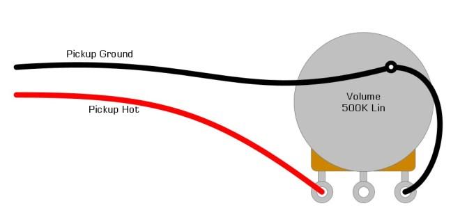 single pickup guitar wiring diagram – humbucker soup
