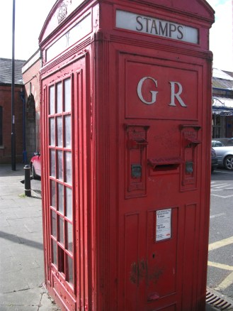 K4 mini post office box, whitley bay metro station