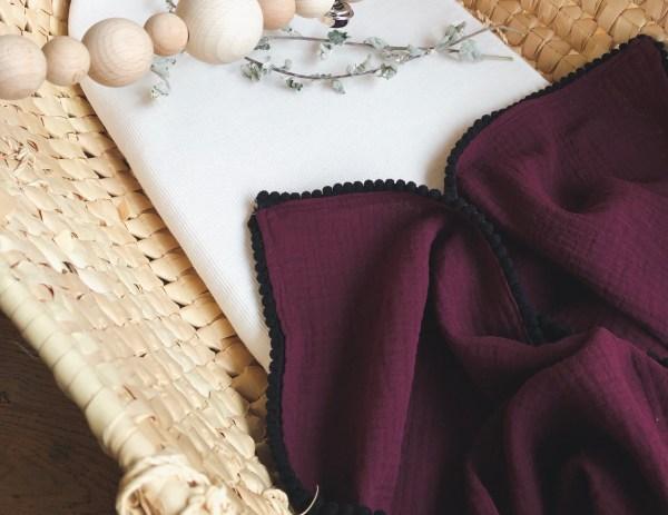 Hydrofiel doek in de kleur Bordeaux