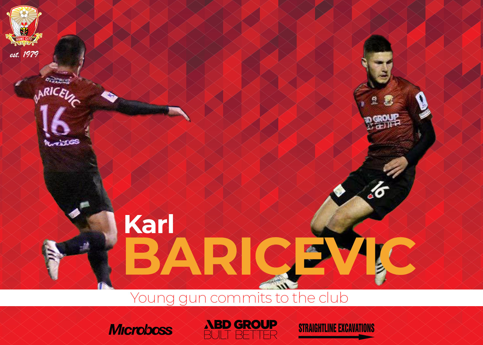 Karl Baricevic commits for two more seasons.