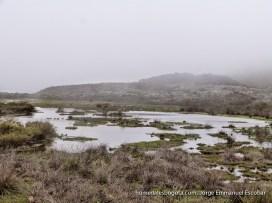 Laguna seca en el páramo de Chingaza