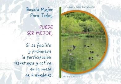 Carta a la Mesa de Humedales: La Bogotá Mejor para Todos Puede Ser Mejor…….  SI…