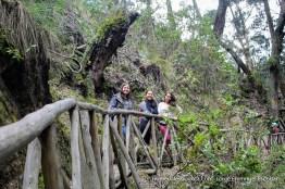 Senderos y visitantes en la quebrada Las Delicias
