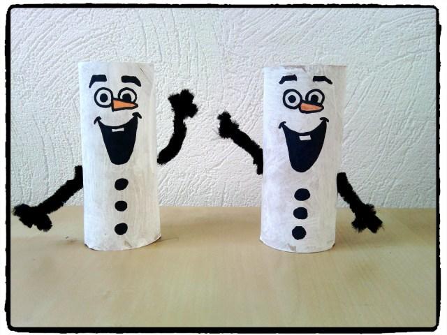 Olaf en rouleau de papier de toilette -