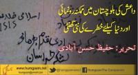 داعش کی بلوچستان میں ممکنہ رونمائی اوردنیاکیلئے خطرے کی نئی گھنٹی  .حفیظ حسن آبادی