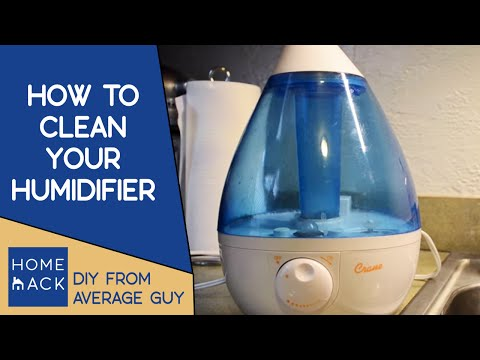 image of cleaning a humidifier