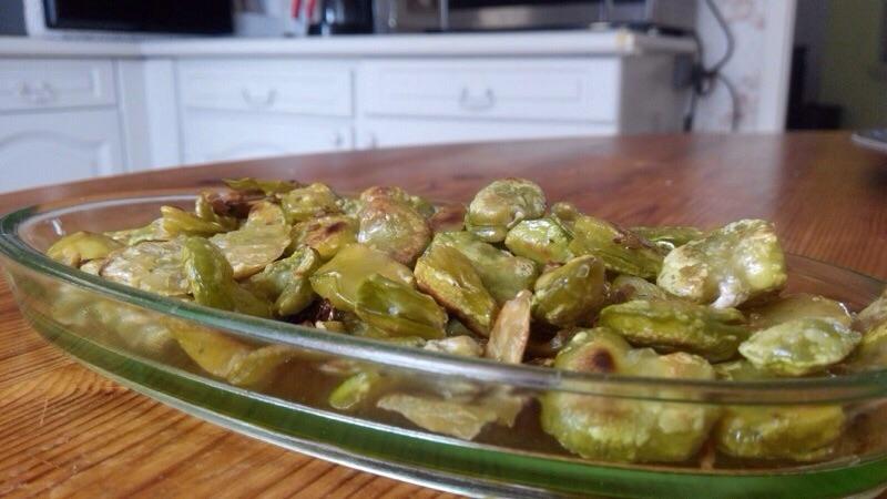 Poêlée de fèves pour l'apéro