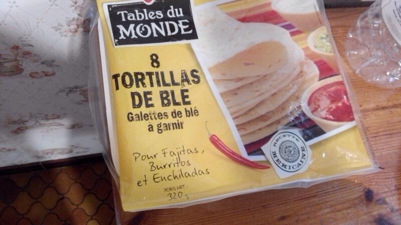 Tortillas façon pizza