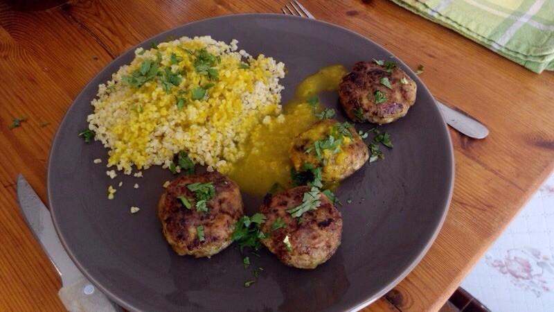 Croquettes de poulet au curry