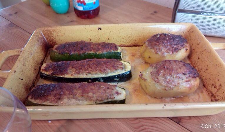 Légumes farcis au four