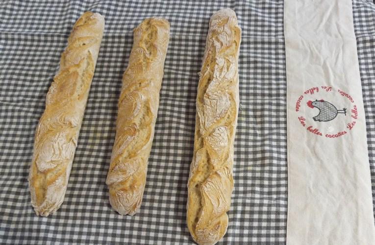 Baguettes de pain comme chez le boulanger