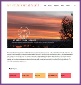 The Veterinary Idealist, a Website Designed by Hummingbird Marketing Services