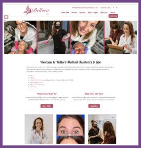Bellora Medical Aesthetics, a Website Designed by Hummingbird Marketing Services