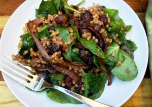 Farro and Roasted Grape Salad
