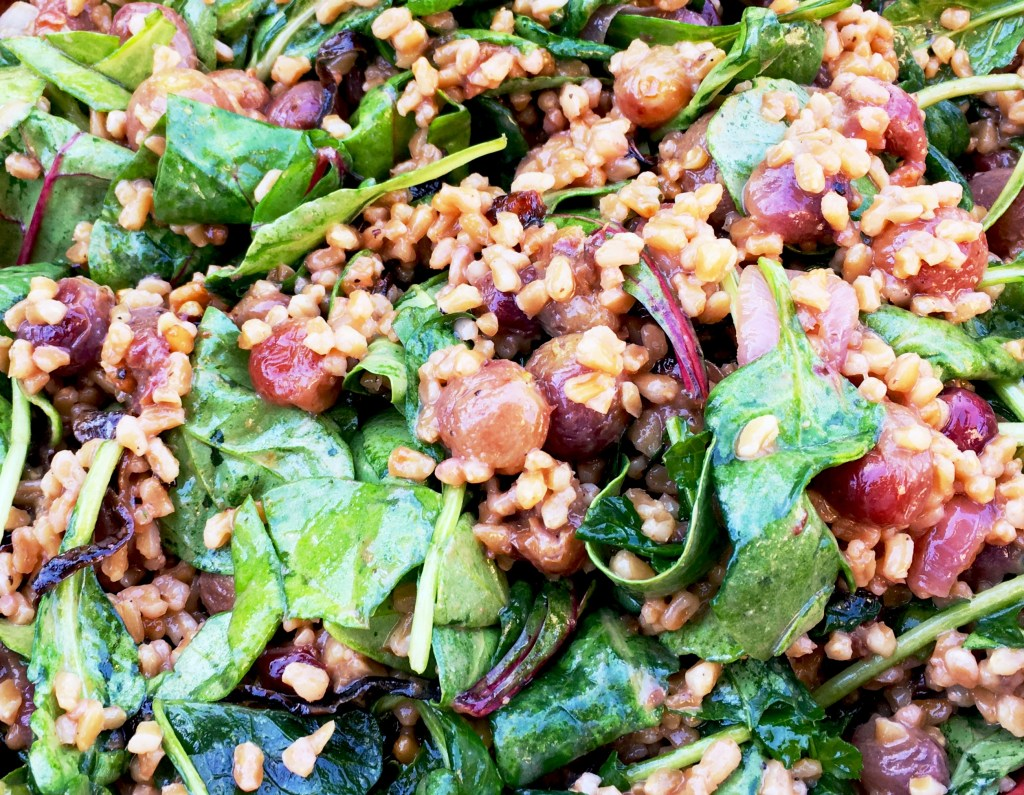 Farro with Roasted Onions and Grapes