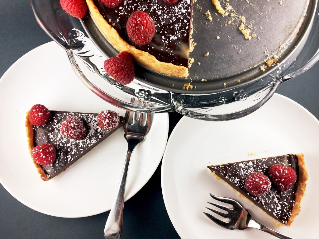 French Chcolate Tart with brown butter crust