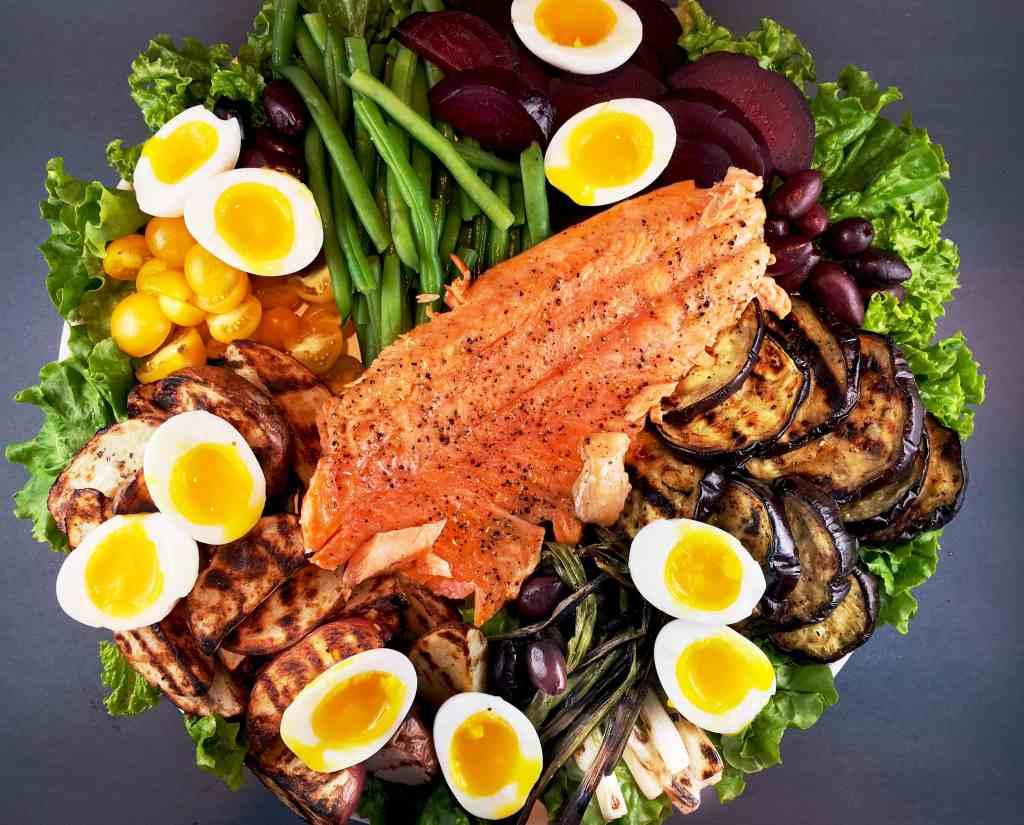 Grilled Nicoise Salad Salmon