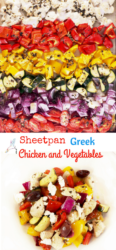 Sheetpan Greek Chicken and Vegetables