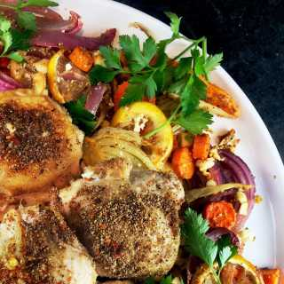 Roasted Root Vegetables and Chicken