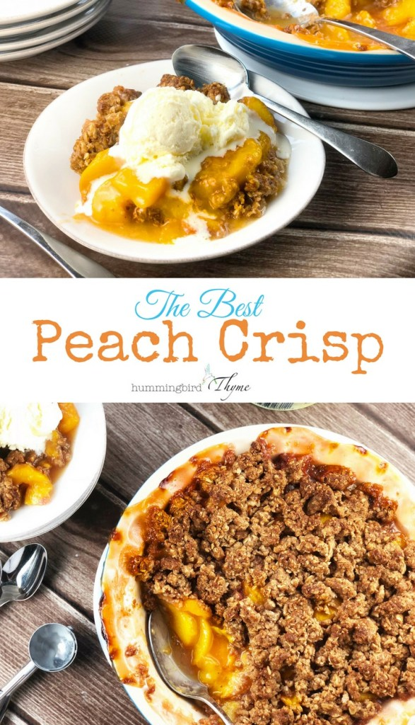 B's Cracklin' BBQ Peach Crisp Recipe
