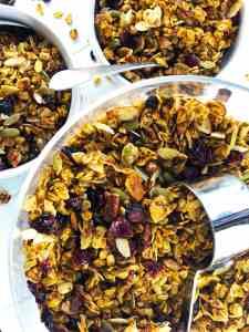 Easy Healthy Pumpkin Spice Granola