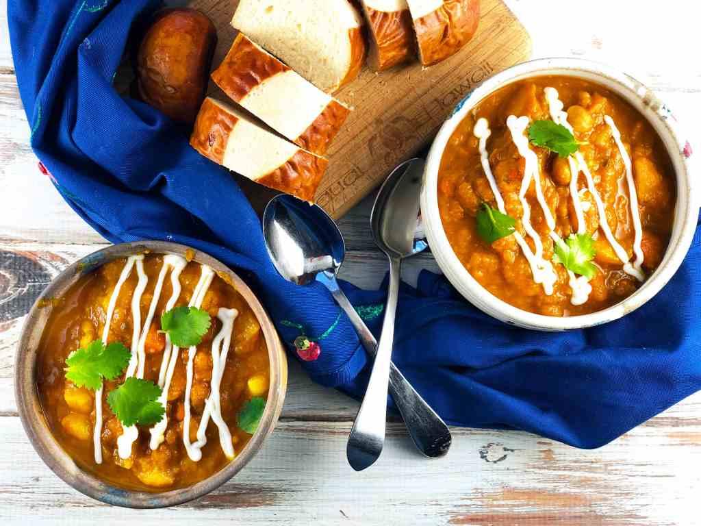 Moroccan Vegetable Soup - Vegan!