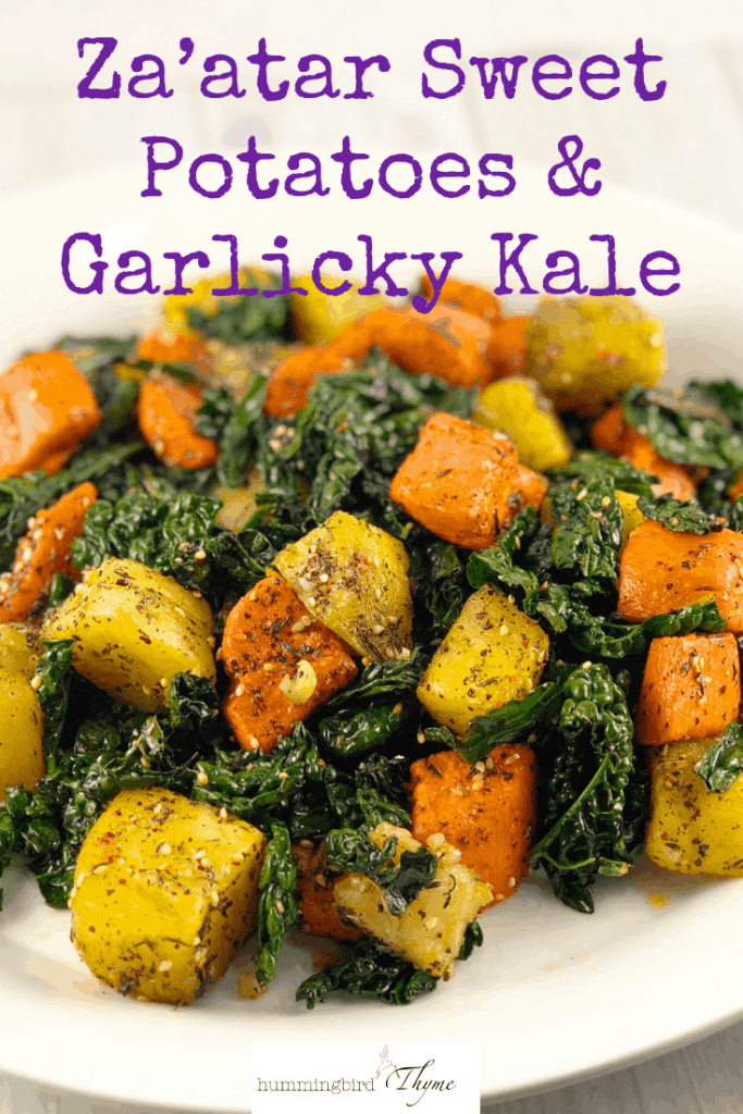 Za'atar Sweet Potatoes Garlicky Kale