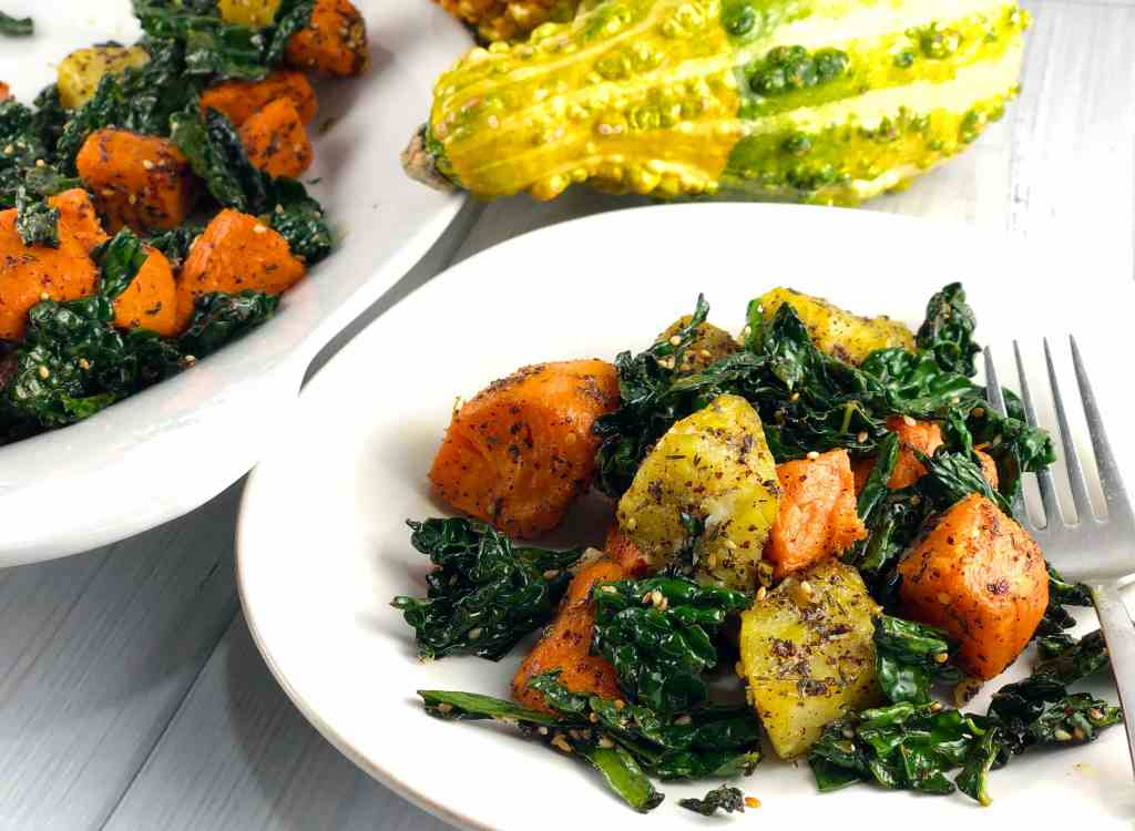 Sweet Potatoes and Kale