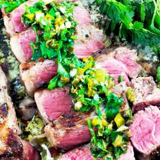 Steak with Persillade Sauce