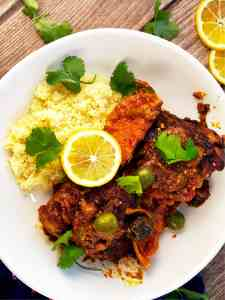 Moroccan Chicken Tagine with Couscous
