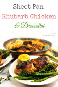 Sheet Pan Rhubarb Chicken