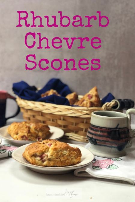 Rhubarb Scones with Chevre