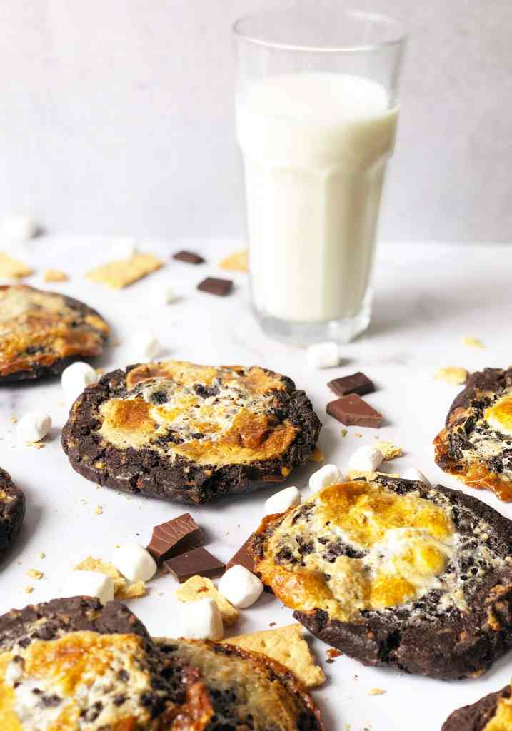 S'mores Cookies with Milk