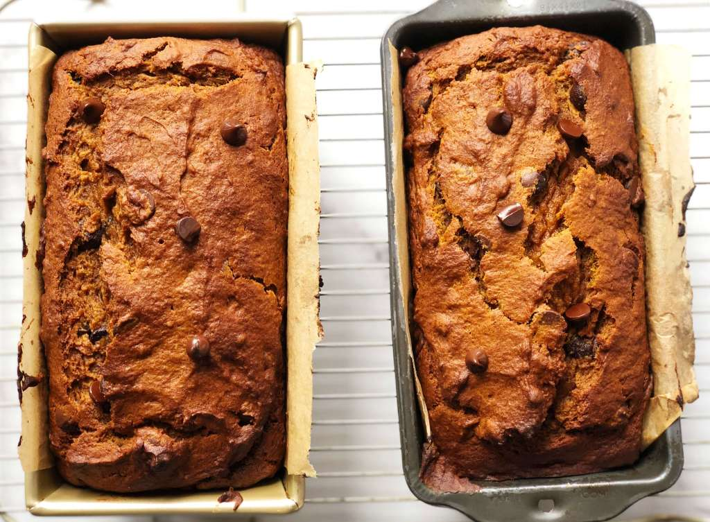 Making Pumpkin Chocolate Chip Bread