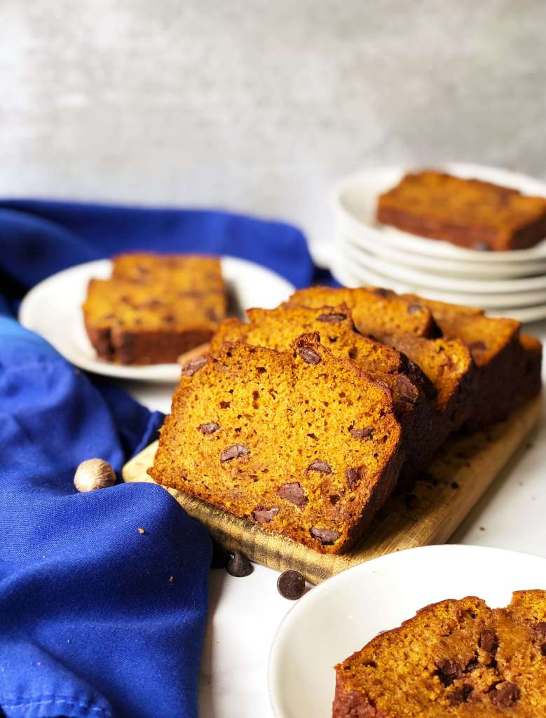 Pumpkin Loaf with Chocolate Chips