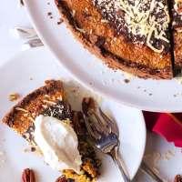 Chocolate Coconut Pecan Tart