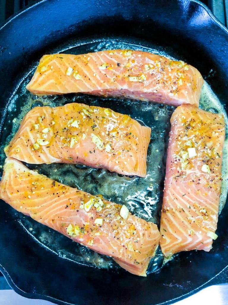 How to make Orange za'atar Salmon