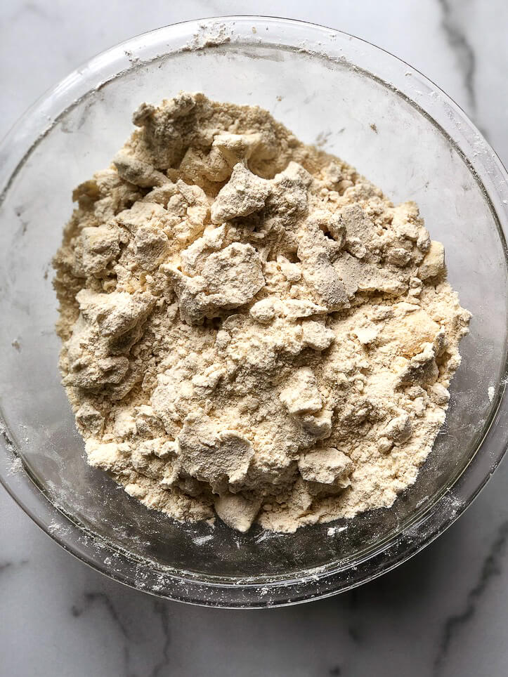 Process shot for crumb layer