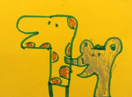 Dibujo de una niña de 5 años