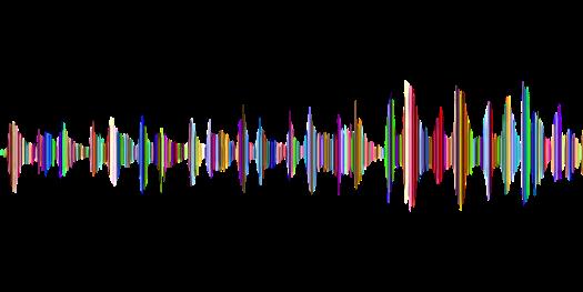 Onda de sonido coloreada