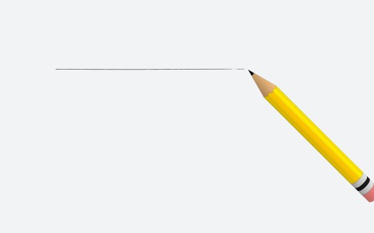 Una línia recta dibujada por lápiz