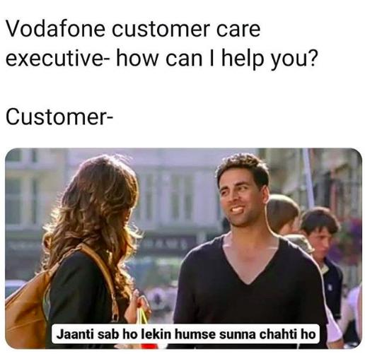 Vodafone Customer Care Executive Knows Everything